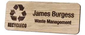 Engraved Wooden Name Badges | www.namebadgesinternational.ie